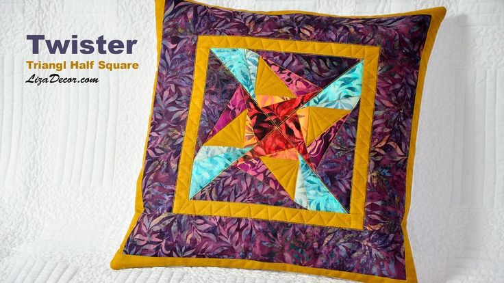 #twister #triangl #halfsquare #tutorial #video #vzory #střihy #lizadecor