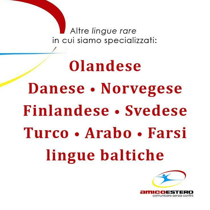 Altre lingue rare in cui siamo specializzati:
