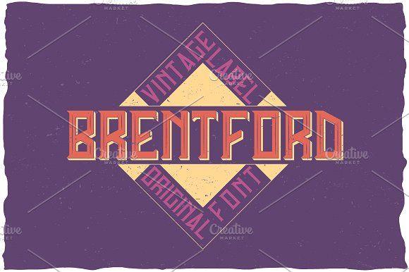 Brentford Vintage Label Typeface by Vozzy on @creativemarket