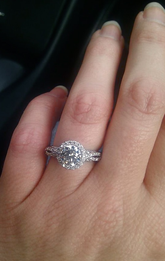 My Engagement Ring On My Hand One Proud Happy Excited