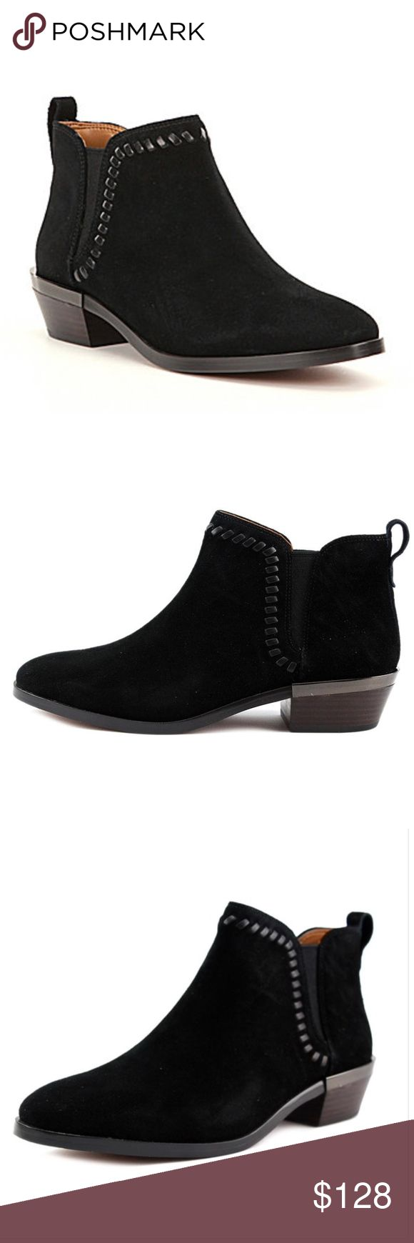 NIB COACH CARTER SUEDE ANKLE BOOTS BLACK NEW IN BOX! LAST ONE!  (picture of model is only to give you an idea how to style the boots)  The Coach Carter Boots feature a Suede upper with a Round Toe. The Leather outsole lends lasting traction and wear. Style: Ankle Material: Suede Boot Height: Ankle Boots Heel Height: Low Heel Color: Black Shoe Width: Medium Coach Shoes Ankle Boots & Booties