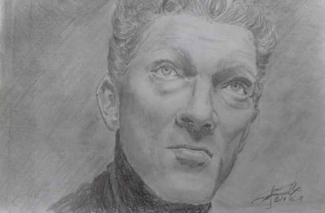 Vincent Cassel-pencil drawing-portrait