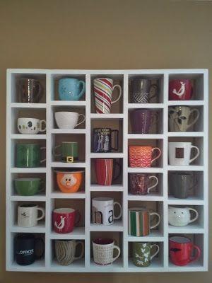 Schaaf house the coffee cup rack oh so crafty pinterest for Coffee mug display rack
