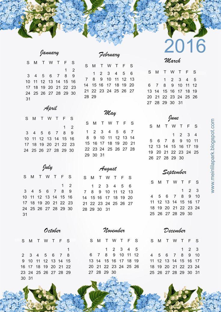 Ausdruckbarer Kalender