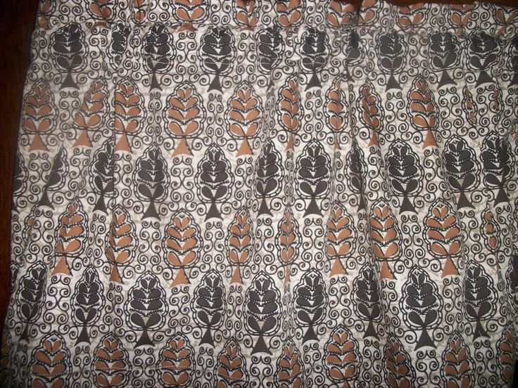 Brown Tan paisley bedroom kitchen bathroom fabric window topper curtain Valance #Handmade