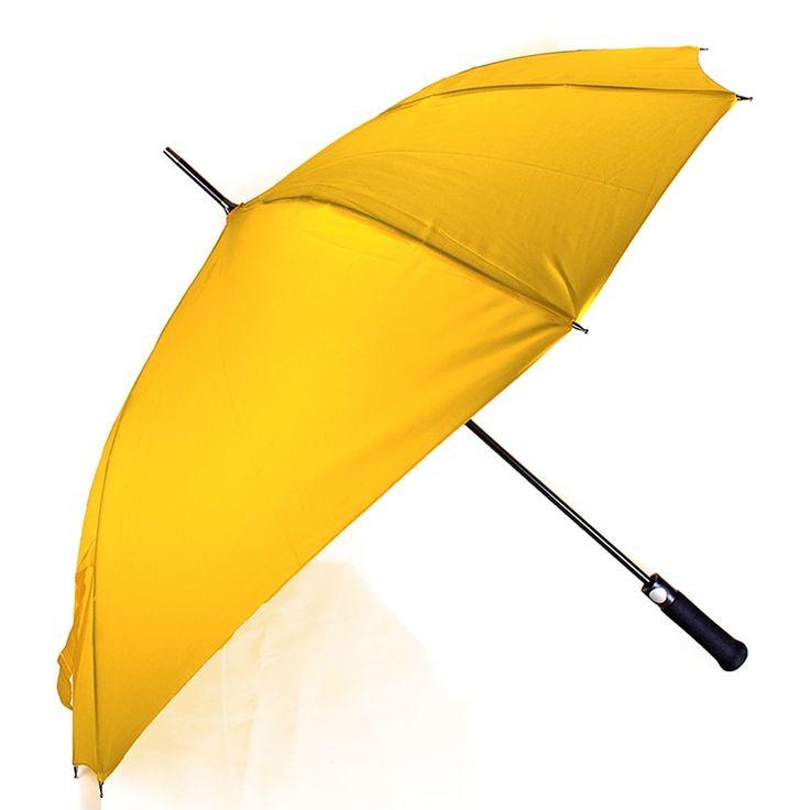 Веселый женский зонтик трость немецкого бренда FARE в подарок яркой стильной девушке. Изделие снабжено улучшенной системой защиты от ветра Fare Flexbar, спицы выполнены из усиленного алюминия, стеклопластика и углепластика, ярко – желтый купол – из полиэстера с тефлоновым покрытием. Руко