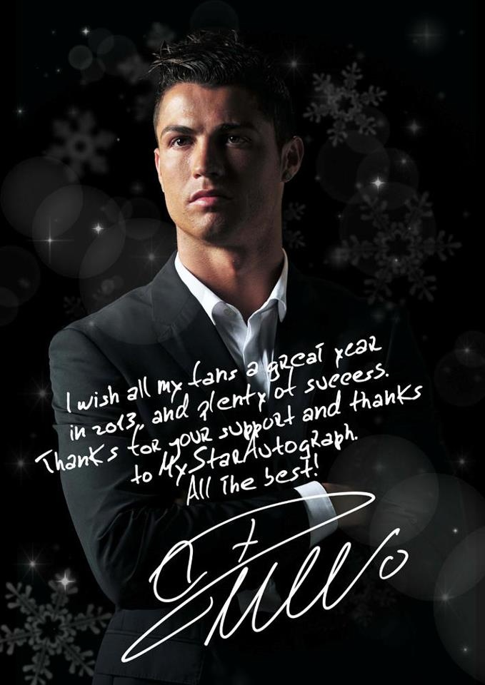 Cr7 Signing An Exclusive Nye Photo For Mystarautograph 180 S
