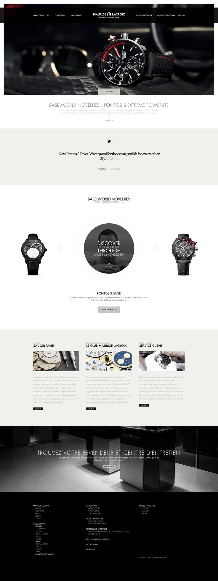 Maurice Lacroix \\ Beautiful website.