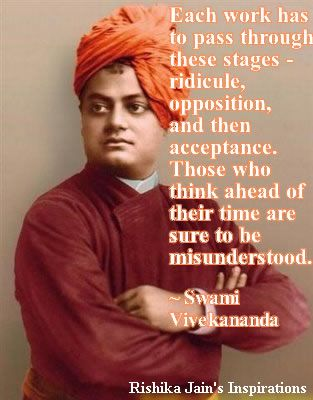 Swami Vivekananda Quotes, Each work has to pass through these stages - | Inspirational Quotes - Pictures - Motivational Thoughts |Quotes and Pictures - Beautiful Thoughts, Inspirational, Motivational, Success, Friendship, Positive Thinking, Attitude, Trust, Perseverance, Persistence, Relationship, Purpose of Life