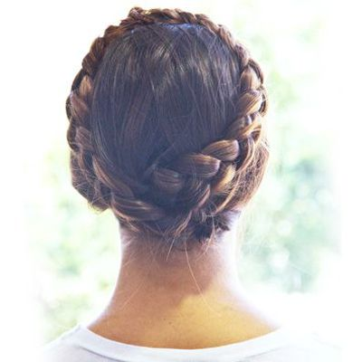 Milkmaid Braids - You might remember this hairstyle from our festival beauty hair ideas post. Just make two braids in your hair, wrap them around your head, and secure them to the top of your head with bobby pins. Click the photo for our step-by-step tutorial. #niciasonoki #fashionista #greathairstyleideas