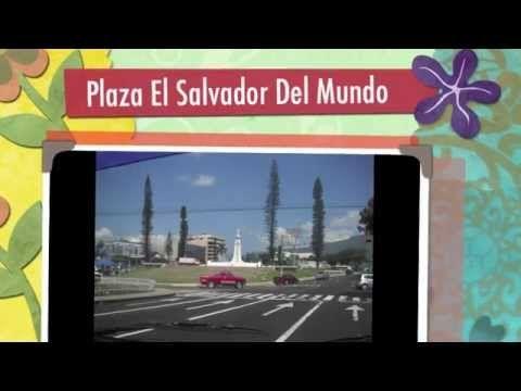 Plaza El Salvador Del Mundo in the heart of San Salvador El Salvador.   One of the most well known landmarks in El Salvador where many public events are held.