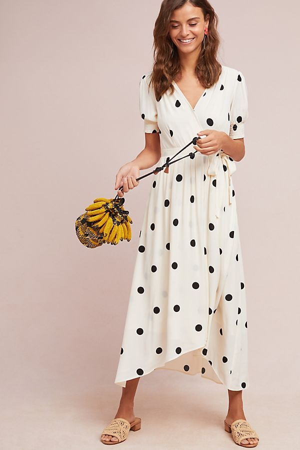 Slide View: 1: Breanna Polka Dot Wrap Dress