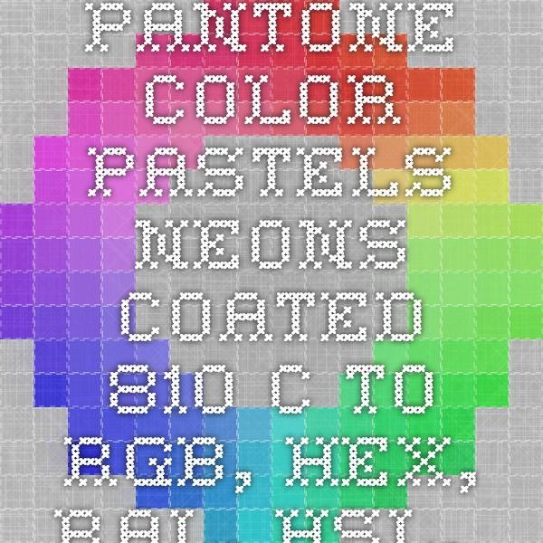 pantone color pastels_neons_coated 810 c to rgb hex ral hsl hsv