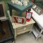 Marble Top End Tbale, The Turned Leg, Plaza Antiques & Collectibles Mall, Booth 134