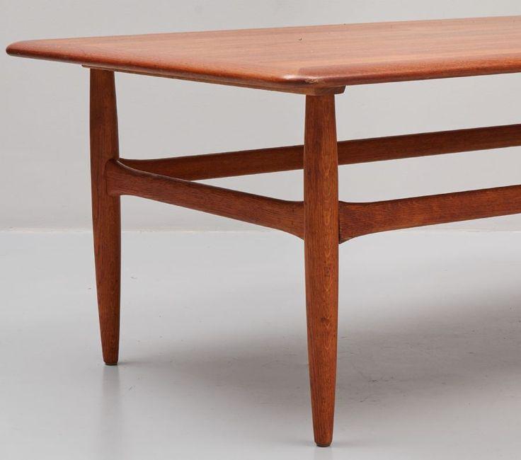 Soffbord, Teak, Jason, Danmark, längd: 131 cm, djup: 75 cm, höjd: 51 cm