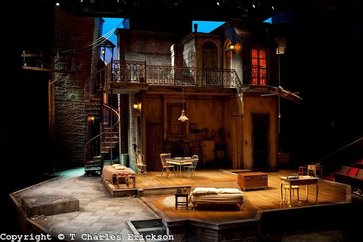 Set for a streetcar named desire at the guthrie for Rosenthal home designs