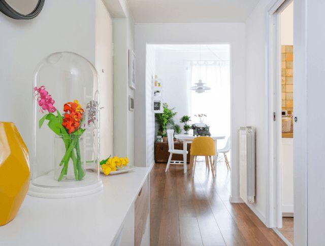 Antes e depois: Renovação em um estilo escandinavo, light, vintage e cheio de cores