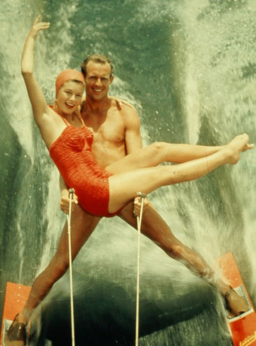 Water skiing exhibition, 1950s