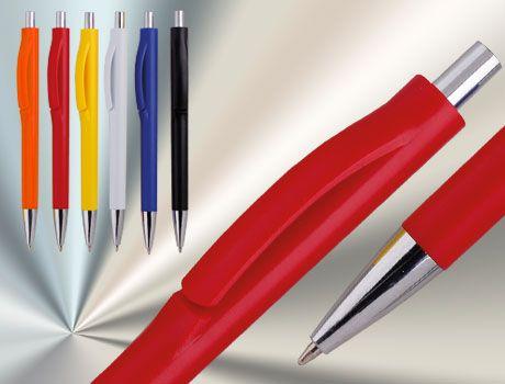 TOHAP Druckkugelschreiber in gedeckten Farben mit Metallspitze. Werbung für wenig Geld. #werbekugelschreiber #kugelschreiber bedrucken #kugelschreiber