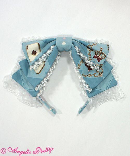 Angelic Pretty Wonder Toy Lace Headband in Sax - Shop In Wonderland