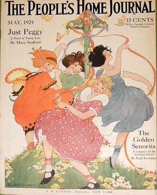 Edith F. Butler - Girls Dancing - The People's Home Journal