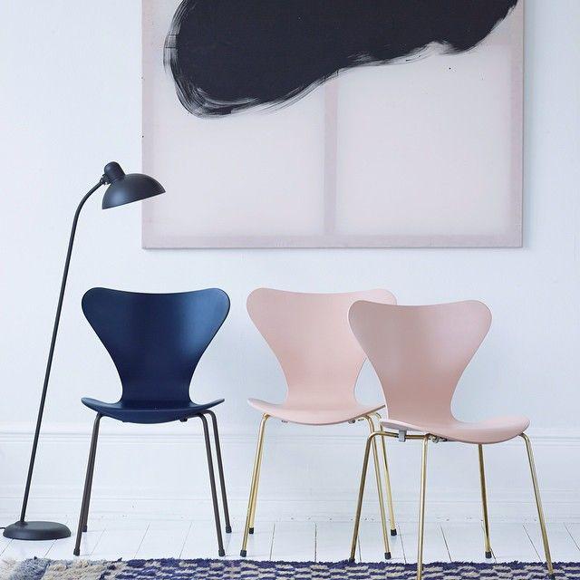 Fritz Hansen - 7'er stole - Stol - Dansk - Design - Smuk - Blå - Lyserød - På ønskelisten