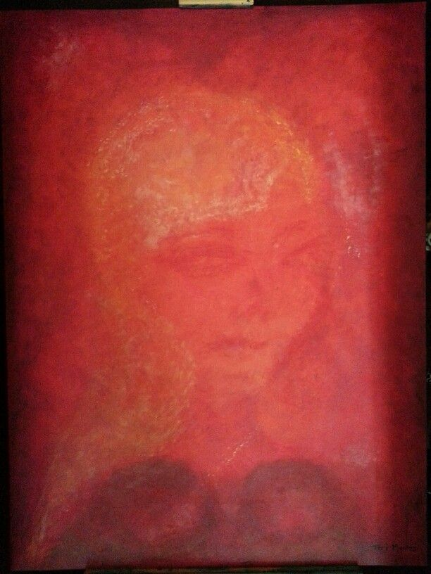 """Ms Olivia"" acrylic on canvas"