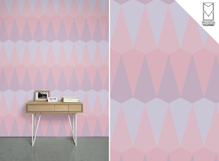 #whitefoxwallpapers #whitefoxdesign #geometricwall