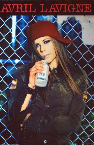 AVRIL LAVIGNE POSTER Enjoying a Drink RARE NEW 24X36