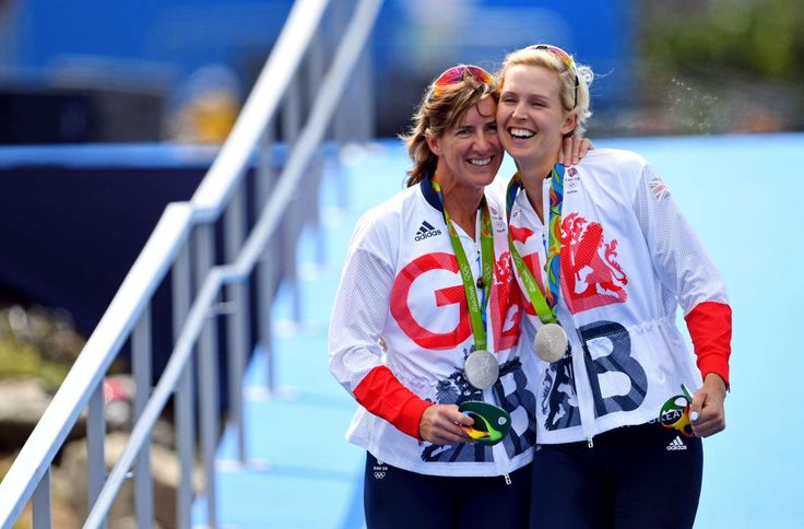 Victoria Thornley and Katherine Grainger of Great Britain celebrate winning the silver medal during the women's rowing double sculls finals in the Rio 2016 Summer Olympic Games at Lagoa Stadium.    -  Best images from Aug. 11 at the Rio Olympics