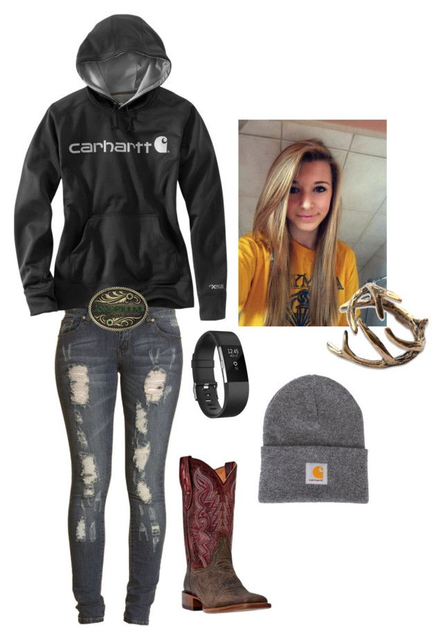 """Sorry i haven't been on lately"" by harleyrotey20 on Polyvore featuring Boohoo and Carhartt"