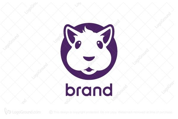 Logo for sale: Hamster Face Logo
