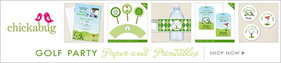 Golf theme paper goods & printables from Chickabug