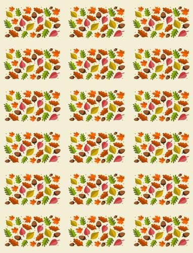 Fall Leaf Hershey Mini Candy Bar Printable Labels.  Print and wrap your chocolate for a fall themed favor.