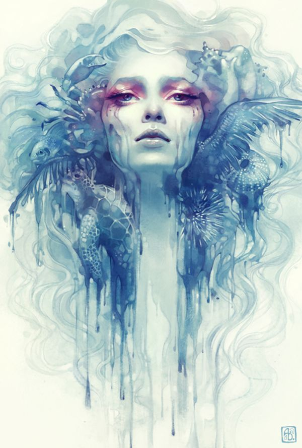 Anna Dittmann is an illustrator who grew up in San Francisco and moved to Georgia to study at the Savannah College of Art and Design who is obessed with drawing fanciful portraits.