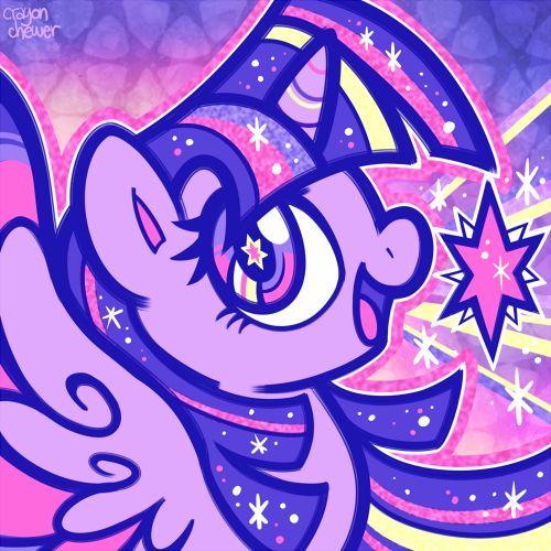 • art mlp twilight sparkle rainbow dash fluttershy applejack rarity pinkie pie ponies crayonchewer •