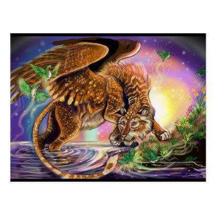 Dusk Hunter Flying Cat Postcard  $1.00  by Shadowind_ErinCooper  - cyo customize personalize diy idea