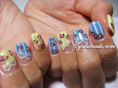 Gotta try thisNails Inspiration, Glamour Nails, Nails Blue, Nails Art, Nails Design, Nails Mani, Gel Nails, Pink Rose, Cyn Nails