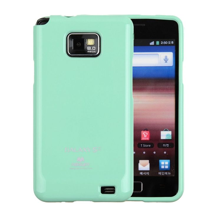 Mercury/Goospery Jelly Case [Mint], Pokrowiec dla GALAXY S2