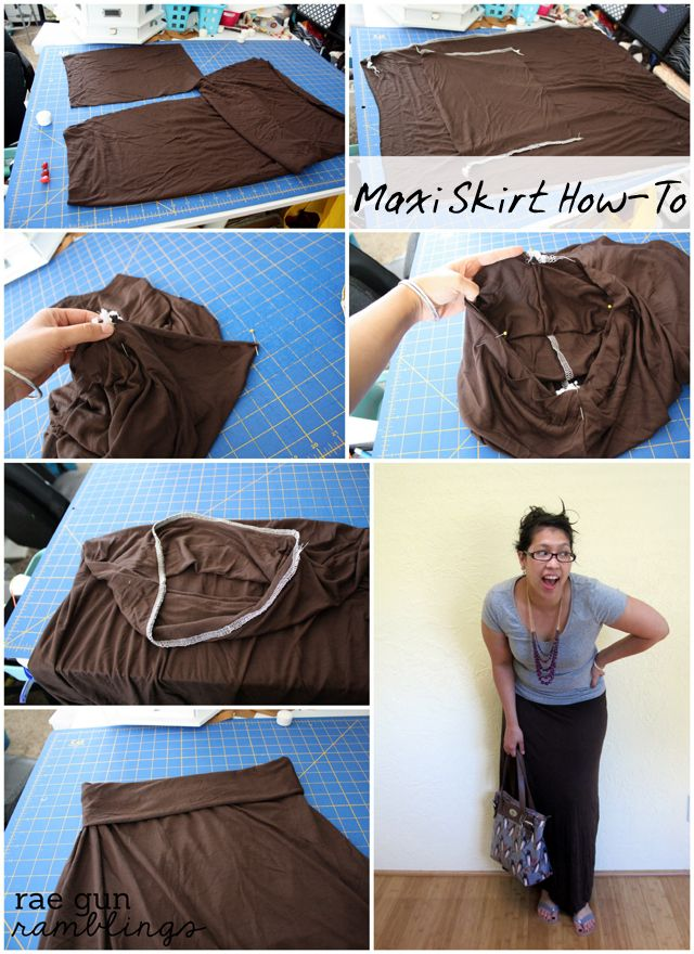 How to make a maxi skirt in just 20 minutes tutorial at rae gun ramblings