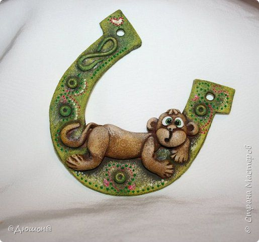 Поделка изделие Новый год Лепка Много много диких обезьян   Тесто соленое фото 3