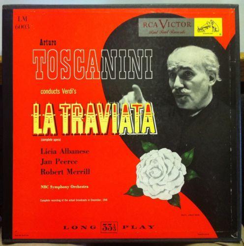 1951 Arturo Toscanini Verdi La Traviata 2 LP VG 1951 LM 6003 Record w Book USA | eBay