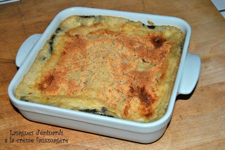 Lasagnes d'épinard à la crème fauxmagère