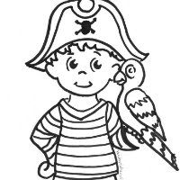 pirate boy coloring page - Open Treasure Chest Coloring Page