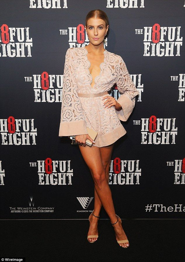 Simply stunning:Erin Holland once again put on a stylish sartorial display as she attended The Hateful Eight Australian premiere