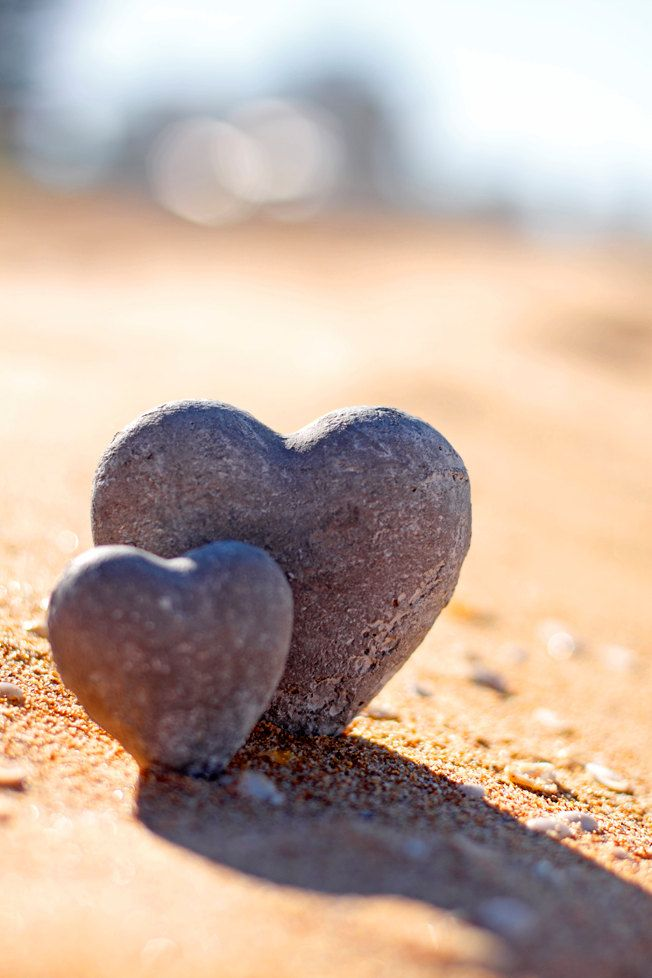 Solid As A Rock 5 x 7 Print. Love, Beach, I love you, Hearts, Romance, Sand, Sunlight. $18.00, via Etsy.