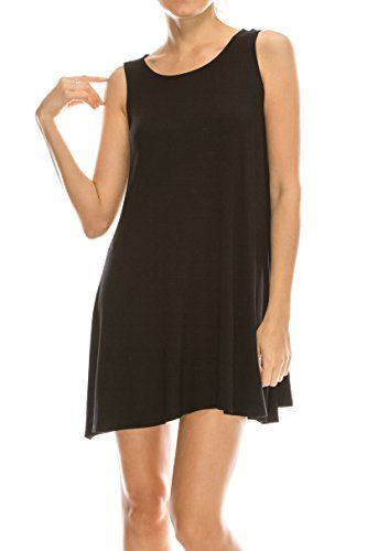 2dc91587a22f6 EttelLut Stretchy Flowy Loose Fit Tunic Casual Beach Regular Plus Size  Dresses