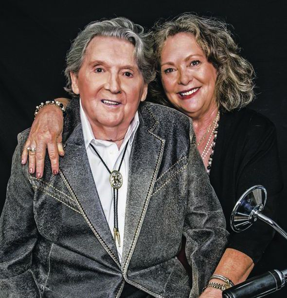 Jerry Lee with his seventh wife Judith, married March 9, 2012 - present.