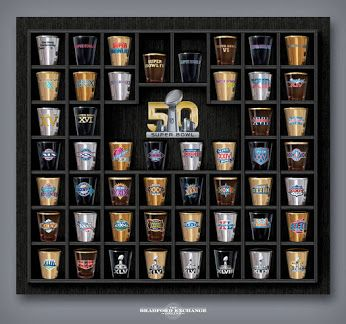 Raise a toast to 50 years of epic NFL matchups with this limited-edition #SuperBowl shot glass collection.   #football