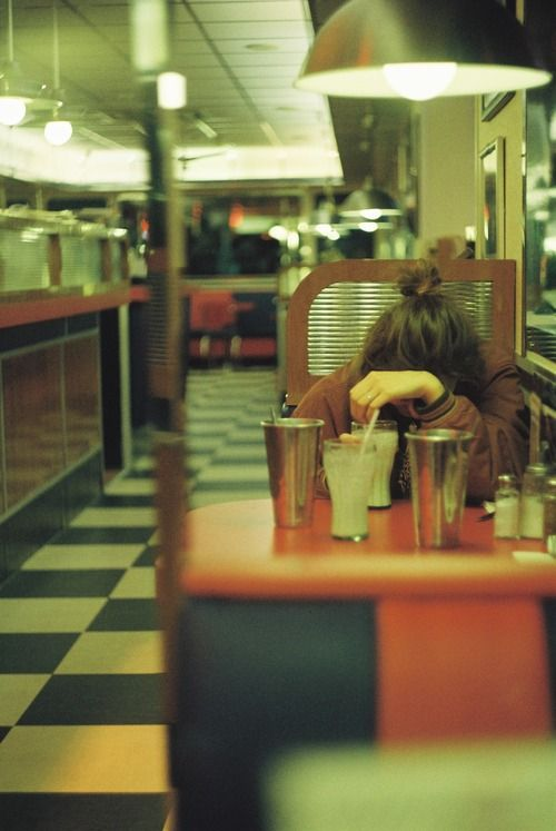 the quiet hum of a diner late at night // this is incredibly familiar, looks like my summer